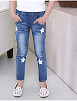 cheap -Kids Girls' Geometric Jeans