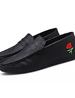 cheap -Men's Moccasin PU(Polyurethane) Summer Casual Loafers & Slip-Ons White / Black / Red