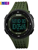 Недорогие -SKMEI Муж. Спортивные часы электронные часы Цифровой 50 m Защита от влаги Будильник Календарь PU Группа Цифровой На каждый день Мода Красный / Цвет клевера - Красный Зеленый / Один год / Секундомер