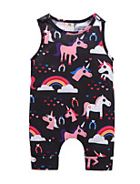 cheap -Baby Girls' Active / Basic Going out Print Sleeveless Cotton Romper / Toddler