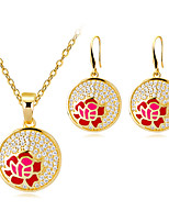 cheap -Women's Stylish Jewelry Set - Creative, Flower Stylish, European Include Hoop Earrings / Necklace Gold For Wedding / Daily