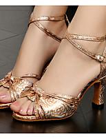 economico -Per donna Scarpe per balli latini PU (Poliuretano) Tacchi Tacco alto sottile Scarpe da ballo Oro
