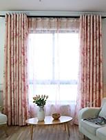 Недорогие -Шторы портьеры Спальня Цветочный принт Полиэфирная смесь Принт и жаккард