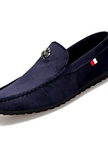 cheap -Men's PU(Polyurethane) Fall Moccasin Loafers & Slip-Ons Black / Orange / Blue