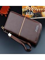 cheap -Men's Bags PU(Polyurethane) Wallet Zipper Black / Khaki