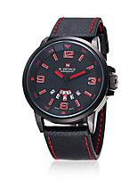 Недорогие -NAVIFORCE Муж. Нарядные часы Наручные часы Японский Японский кварц 30 m Защита от влаги Творчество Новый дизайн Кожа Группа Аналоговый На каждый день Мода Черный / Коричневый -  / Два года / Два года