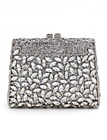 cheap -Women's Bags Alloy Evening Bag Crystals / Hollow-out Gold / Silver