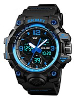 cheap -SKMEI Men's Sport Watch Digital Watch Digital 50 m Water Resistant / Water Proof Calendar / date / day Chronograph PU Band Digital Casual Fashion Black / Green / Khaki - Green Blue Khaki / Stopwatch