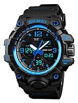 Недорогие -SKMEI Муж. Спортивные часы электронные часы Цифровой 50 m Защита от влаги Календарь Секундомер PU Группа Цифровой На каждый день Мода Черный / Зеленый / Хаки - Зеленый Синий Хаки / Хронометр