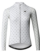 cheap -Mysenlan Long Sleeve Cycling Jersey - White / Black Bike