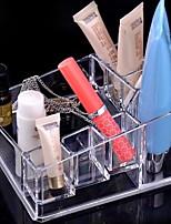 abordables -Espace de rangement Organisation Organisateur de maquillage cosmétique Plastique forme de diamant Multicouche / Découvert