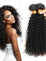 Недорогие -4 Связки Перуанские волосы Кудрявый 8A Натуральные волосы Человека ткет Волосы Пучок волос One Pack Solution 8-28 дюймовый Нейтральный Ткет человеческих волос Машинное плетение