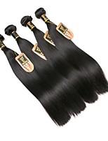 billiga -4 paket Indiskt hår Rak Äkta hår Human Hår vävar / bunt hår / En Pack Lösning 8-28 tum Naurlig färg Hårförlängning av äkta hår Förlängning / Bästa kvalitet / Heta Försäljning Människohår förlängningar