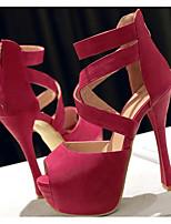 Недорогие -Жен. Балетки Полиуретан Весна & осень Обувь на каблуках На шпильке Оранжевый / Пурпурный / Зеленый