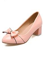 Недорогие -Жен. Комфортная обувь Полиуретан Весна лето Обувь на каблуках На толстом каблуке Черный / Бежевый / Розовый
