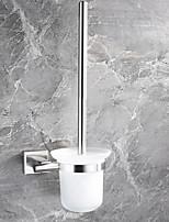 Недорогие -Держатель для ёршика Новый дизайн / Cool Современный стекло / Нержавеющая сталь / железо 1шт Держатели для туалетной щетки На стену