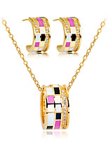 cheap -Women's Stylish Jewelry Set - Creative Stylish, European Include Hoop Earrings / Necklace Gold For Wedding / Daily