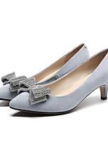 Недорогие -Жен. Комфортная обувь Замша Весна Обувь на каблуках На шпильке Черный / Серый