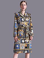cheap -STEPHANIE Women's Basic / Elegant Sheath Dress - Polka Dot / Color Block