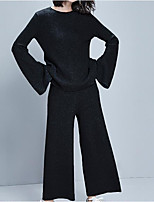 cheap -Women's Street chic Set - Solid Colored Pant