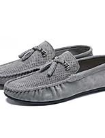 cheap -Men's Moccasin Pigskin / PU(Polyurethane) Fall Comfort Loafers & Slip-Ons Gray / Green / Khaki