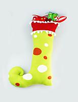 Недорогие -Чулки Праздник Хлопковая ткань Квадратный Оригинальные Рождественские украшения