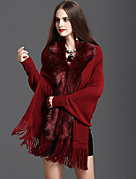 cheap -Long Sleeve Faux Fur / Orlon Wedding / Party / Evening Women's Wrap With Tassel Capes