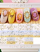 Недорогие -500 pcs Стразы для ногтей Классический / Лучшее качество Креатив маникюр Маникюр педикюр Повседневные Геометрия / Милая
