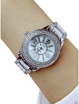 cheap -Women's Wrist Watch Chronograph / Casual Watch / Lovely Alloy Band Luxury / Bangle Silver
