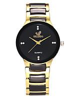 cheap -Men's / Women's Dress Watch / Wrist Watch Chinese Casual Watch / Imitation Diamond Alloy Band Casual / Fashion Black