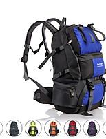baratos -50 L Zainetti / Mochila para Excursão - Á Prova-de-Chuva, Vestível, Respirabilidade Ao ar livre Equitação, Campismo, Moto Oxford Vermelho, Azul, Cinzento