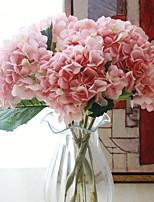 Недорогие -Искусственные Цветы 1 Филиал Классический / Односпальный комплект (Ш 150 x Д 200 см) Свадьба Гортензии Букеты на стол