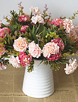 Недорогие -Искусственные Цветы 1 Филиал Классический / Односпальный комплект (Ш 150 x Д 200 см) Стиль / Пастораль Стиль Хризантема Букеты на стол
