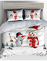 cheap -Duvet Cover Sets Cartoon Polyster Printed 3 Piece