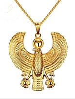 Недорогие -Муж. Стильные Ожерелья с подвесками - Титановая сталь Креатив Мода Cool Золотой 61 cm Ожерелье Бижутерия 1шт Назначение Вечеринка / ужин, Повседневные