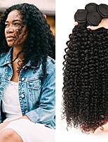 abordables -4 offres groupées Cheveux Indiens / Cheveux Mongoliens Kinky Curly Non Traités / Cheveux humains Cadeaux / Costumes Cosplay / Casque 8-28 pouce Tissages de cheveux humains Brillant / Grosses soldes