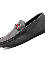 cheap -Men's Moccasin Pigskin Fall Loafers & Slip-Ons Black / Gray / Brown