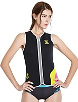 cheap -Women's Wetsuit Top 3mm Vest / Gilet Thermal / Warm Sleeveless Front Zip - Surfing / Snorkeling / Watersports Solid Colored Autumn / Fall / Stretchy
