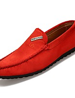 cheap -Men's Moccasin PU(Polyurethane) Fall Loafers & Slip-Ons Black / Orange / Blue