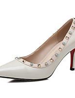 Недорогие -Жен. Наппа Leather Весна Туфли лодочки Обувь на каблуках На шпильке Белый