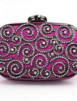 Недорогие -Жен. Мешки Сплав Вечерняя сумочка Кристаллы Пурпурный