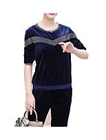 Недорогие -Жен. Классический Пуловер - Контрастных цветов