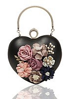 cheap -Women's Bags PU(Polyurethane) / Alloy Evening Bag Appliques / Embroidery White / Black / Blushing Pink