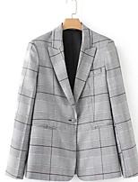cheap -women's work blazer-striped stand