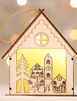Недорогие -Декорации Праздник деревянный деревянный Рождественские украшения