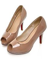 Недорогие -Жен. Комфортная обувь Полиуретан Весна Обувь на каблуках На шпильке Черный / Бежевый / Миндальный