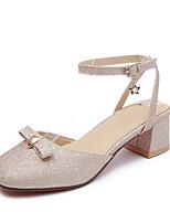 Недорогие -Жен. Обувь Полиуретан Лето Туфли лодочки Обувь на каблуках На толстом каблуке Серебряный / Лиловый / Розовый