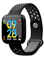 abordables -Bracelet à puce F15 pour Android iOS Bluetooth Sportif Imperméable Moniteur de Fréquence Cardiaque Mesure de la pression sanguine Calories brulées Chronomètre Podomètre Rappel d'Appel Moniteur de