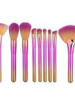 cheap -9pcs Makeup Brushes Professional Make Up Nylon Brush Full Coverage Plastic