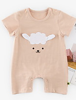 cheap -Baby Girls' Patchwork Short Sleeves Romper